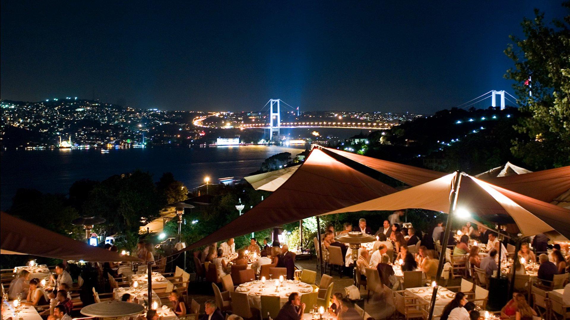 sunset grill bar romantik akşam yemeği